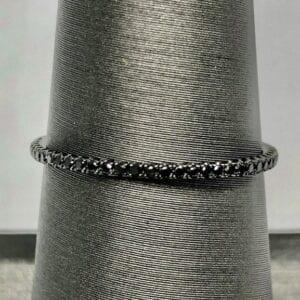 Black diamond eternity stacking band