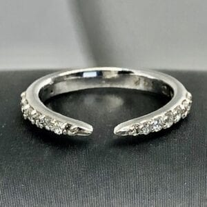 Silver Ring with many small diamonds