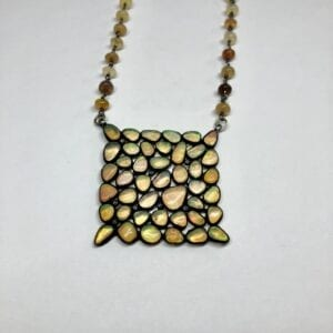 beaded pendant square